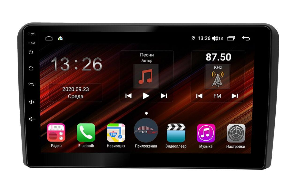 Штатная магнитола FarCar s400 Super HD для Audi A4 на Android (XH050R) (+ Камера заднего вида в подарок!)