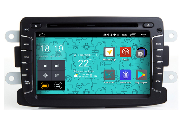Штатная магнитола Parafar 4G/LTE для Renault Duster, Sandero, Logan, Kaptur, Lada X-Ray на Android 7.1.1 (PF157D) unlocked netger 4g 150mbps sierra wireless router aircard 770s 4g lte mobile wifi hotspot dongle 4g pocket wifi