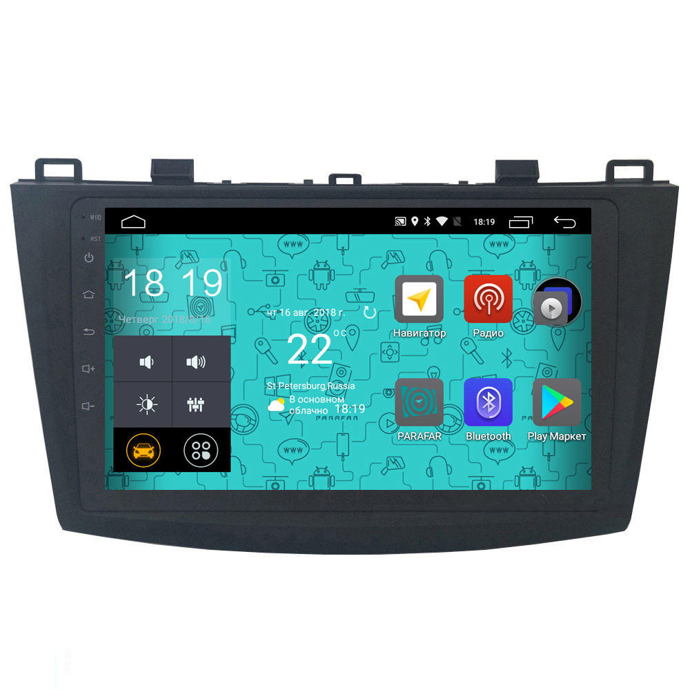 Штатная магнитола Parafar 4G/LTE для Mazda 3 2009-2012 на Android 7.1.1 (PF034) unlocked netger 4g 150mbps sierra wireless router aircard 770s 4g lte mobile wifi hotspot dongle 4g pocket wifi