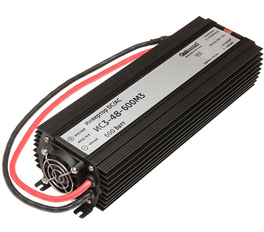 Инвертор Сибконтакт ИС3-48-600 DC-AC, 48В/600Вт (+ Салфетки из микрофибры в подарок) автомобильный инвертор напряжения ritmix rpi 6010 600вт max usb