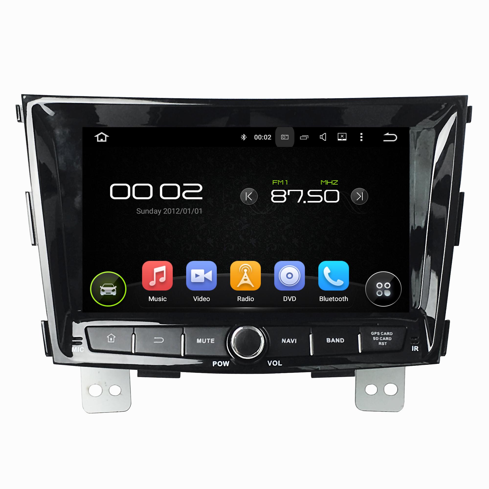 Штатная магнитола для Ssang Yong Tivoli CARMEDIA KD-8116-P3-7 на Android 7.1 штатная магнитола carmedia kd 1000 p3 7 универсальная установка ii din