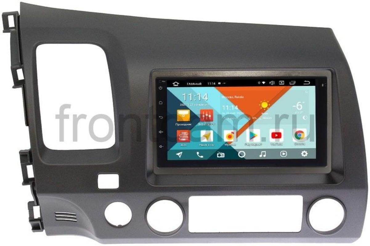 Штатная магнитола Honda Civic 8 4D Wide Media KS7001QR-3/32-RP-HNCV52-60 на Android 10(DSP CarPlay 4G-SIM) (+ Камера заднего вида в подарок!)