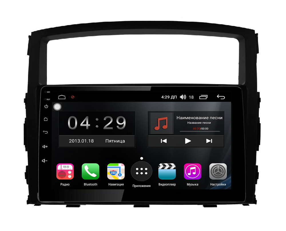 Штатная магнитола FarCar s300-SIM 4G для Mitsubishi Pajero на Android (RG1009R) (+ Камера заднего вида в подарок!)
