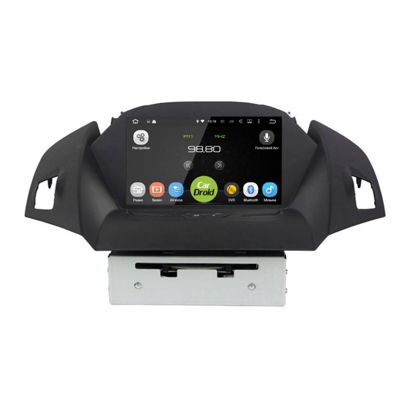 Штатная магнитола CarDroid RD-1706D для Ford kuga (Android 8.0) DSP (+ Камера заднего вида в подарок!)