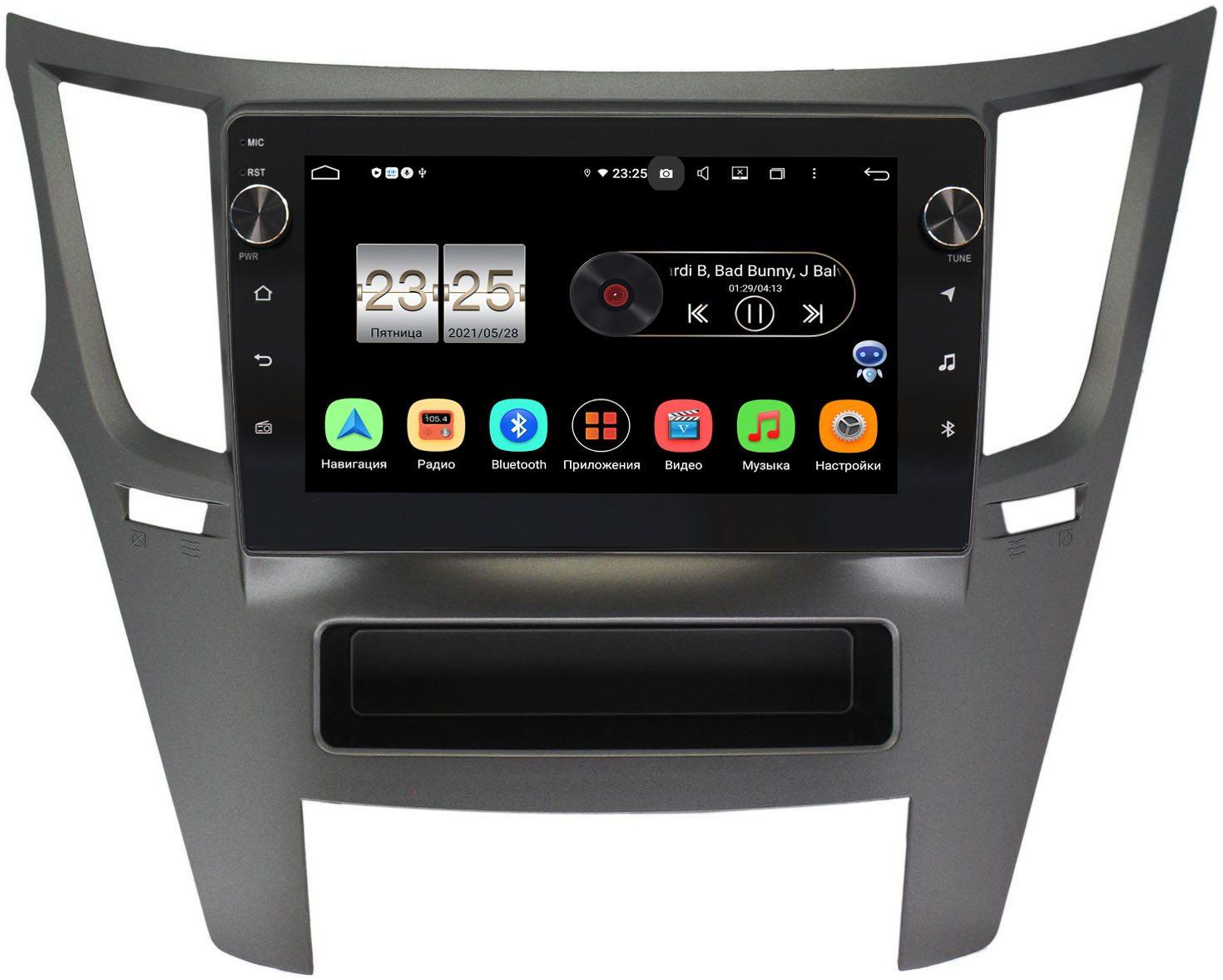 Штатная магнитола Subaru Legacy V 2009-2014, Outback IV 2009-2014 LeTrun BPX409-9051 на Android 10 (4/32, DSP, IPS, с голосовым ассистентом, с крутилками) (+ Камера заднего вида в подарок!)
