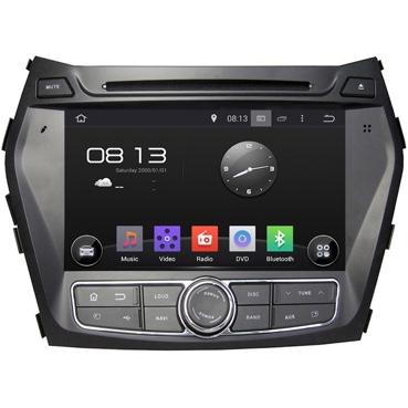 Штатная магнитола Incar AHR-2483 Hyundai Santa-Fe III на androd 4.4.4 автомобильный коврик seintex 84065 для hyundai santa fe iii