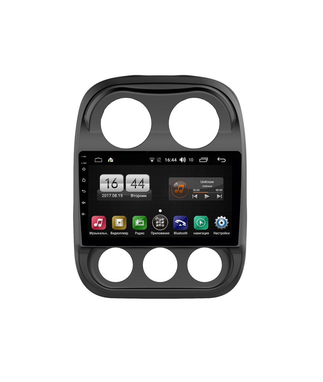 Штатная магнитола FarCar s185 для Jeep Compass на Android (LY1078R) (+ Камера заднего вида в подарок!)