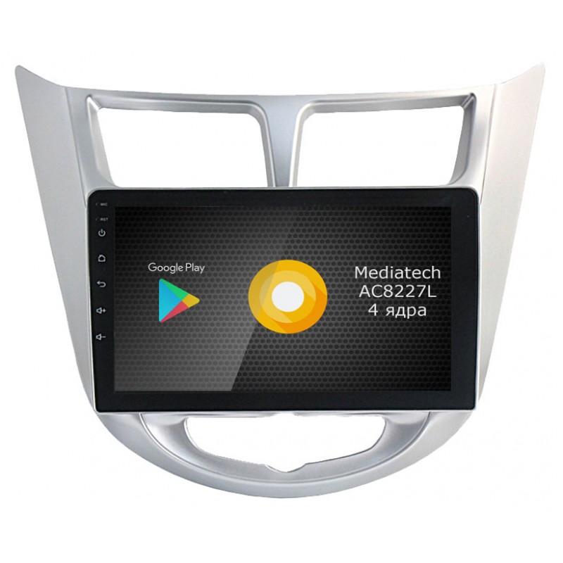 Фото - Штатная магнитола Roximo S10 RS-2003 для Hyundai Solaris (Android 8.1) (+ Камера заднего вида в подарок!) видео