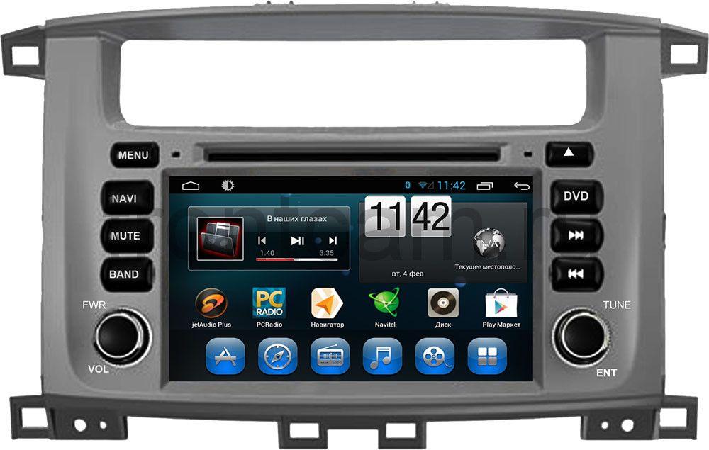 Штатная магнитола для Toyota LC 100 2002-2007 CARMEDIA KR-7083-T8 на Android 7.1 штатная магнитола carmedia nm 9040 dvd volkswagen tiguan 2007 2016 до и после рестайлинга golf plus