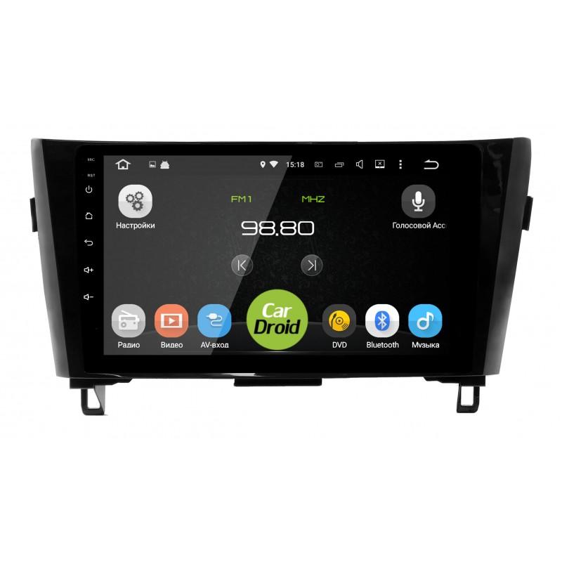 Штатная магнитола Roximo CarDroid RD-1202F для Nissan Qashqai 2, X-Trail 3, 2014+ (Android 8.0) tronsmart orion r68 meta android tv box rockchip rk3368 octa core cpu android 5 1 lollipop 2g 16g hdmi2 0 h 265 2 4 5ghz wifi 4k