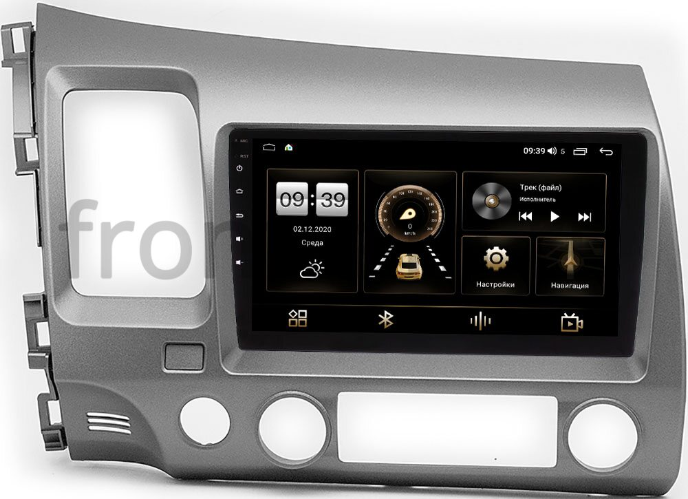 Штатная магнитола Honda Civic 8 (VIII) 4D 2005-2011 LeTrun 4166-9-1061 на Android 10 (4G-SIM, 3/32, DSP, QLed) (+ Камера заднего вида в подарок!)