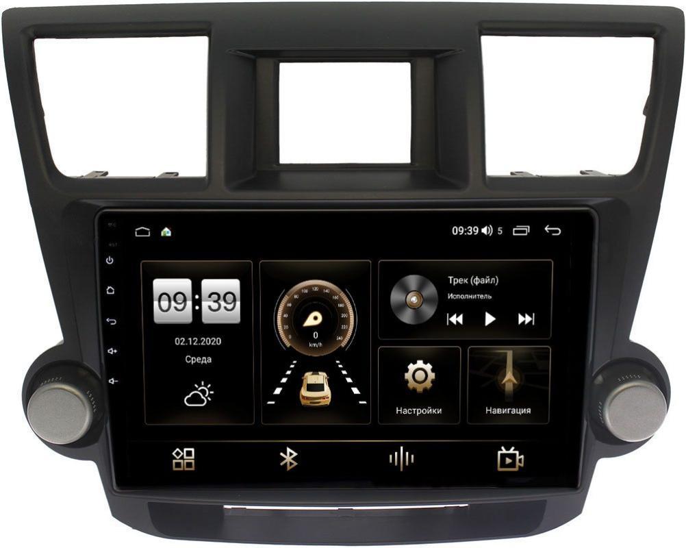 Штатная магнитола Toyota Highlander (U40) декоративные крутилки 2007-2013 LeTrun 4165-10-1167 на Android 10 (4G-SIM, 3/32, DSP, QLed) (+ Камера заднего вида в подарок!)
