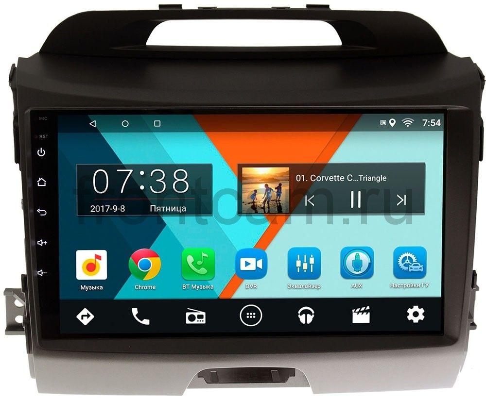Штатная магнитола Kia Sportage III 2010-2016 для авто с камерой Wide Media MT9072MF-2/16 на Android 7.1.1 штатная магнитола letrun 1867 для kia sportage 2010 2016 android 6 0 1