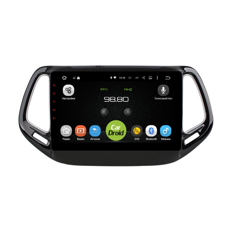 Штатная магнитола CarDroid RD-2204F для Jeep Compas 2017 (Android 9.0) DSP (+ Камера заднего вида в подарок!)