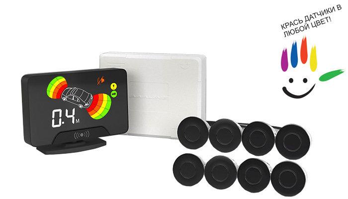 Парктроник модель AAALine LCD-18 Black цена