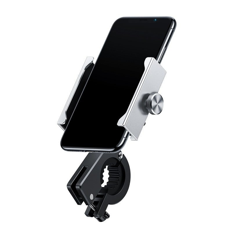 Мото держатель Baseus Knight phone Silver