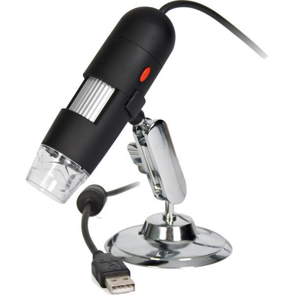 Микроскоп цифровой карманный Kromatech 50-500x USB, с подсветкой (8 LED) (+ Книга знаний «Невидимый мир» в подарок!) штангенциркуль kromatech 100mm цифровой