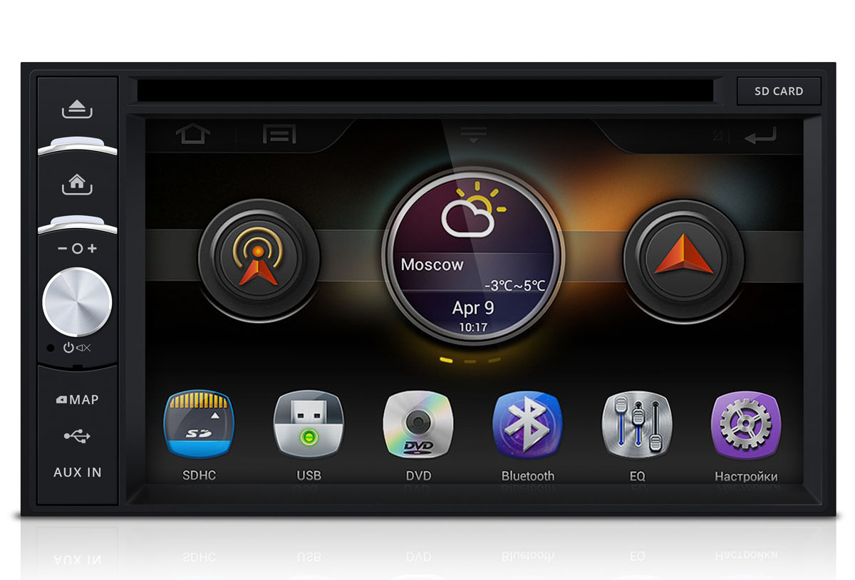 Штатная магнитола Incar AHR-7280 2DIN (Android 4.1.1) intro incar vdr