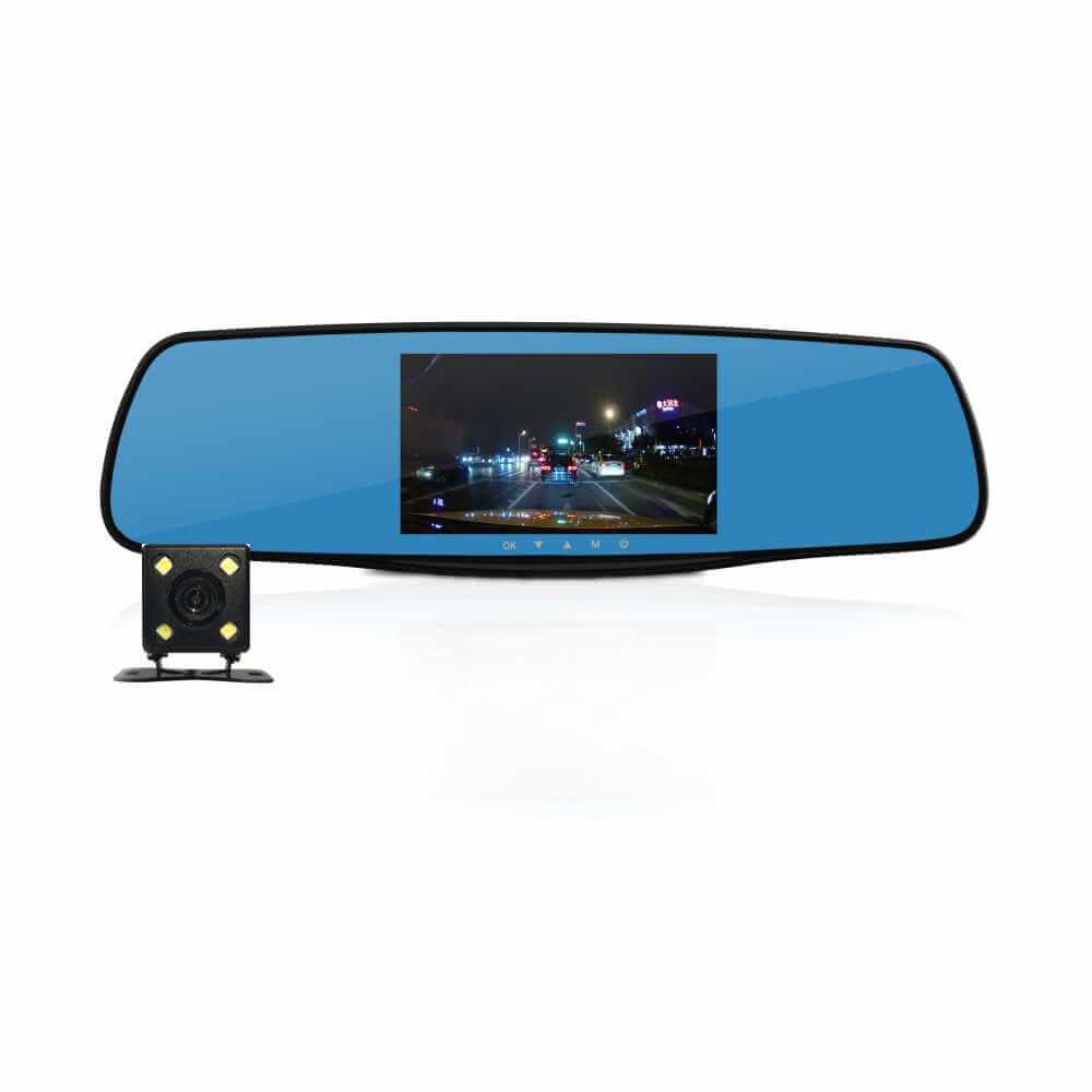 Видеорегистратор Fujida Zoom Mirror, 2 камеры (+ Антисептик-спрей для рук в подарок!)