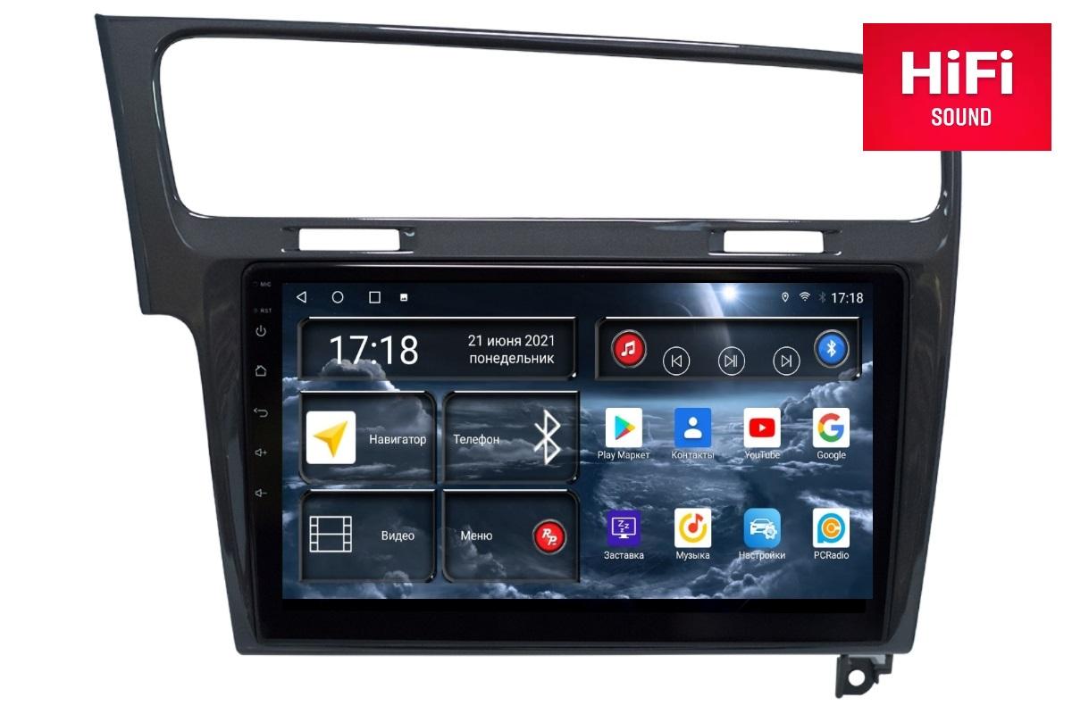 Автомагнитола RedPower 75006G Hi-Fi для Volkswagen Golf 7-поколение Mk7 (08.2012-12.2019) серый глянец (+ Камера заднего вида в подарок!)