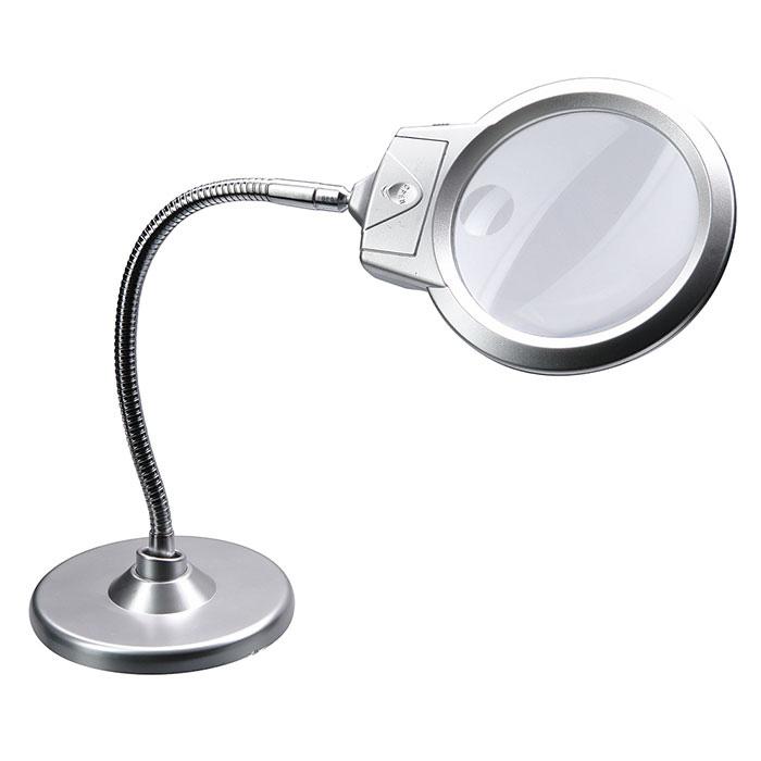 Фото - Лупа настольная 2,25/5х, 107/25 мм, с подсветкой (4B-6) лампа лупа на штативе со светодиоидной подставкой 5х lts 402