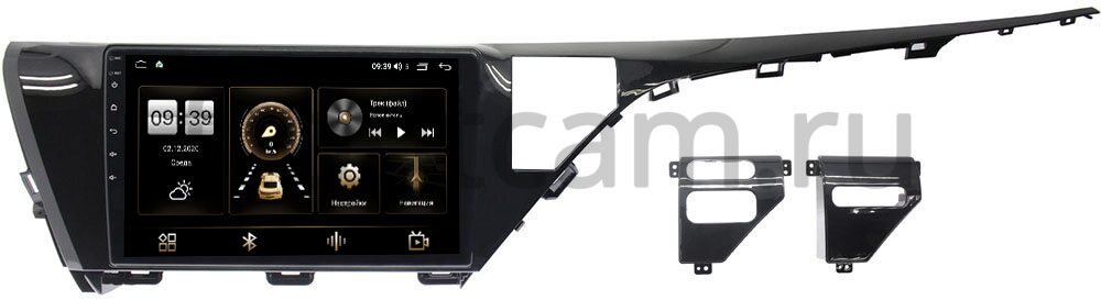 Штатная магнитола LeTrun 4165-1050 для Toyota Camry V70 2018-2021 на Android 10 (4G-SIM, 3/32, DSP, QLed) (для авто с камерой) (+ Камера заднего вида в подарок!)