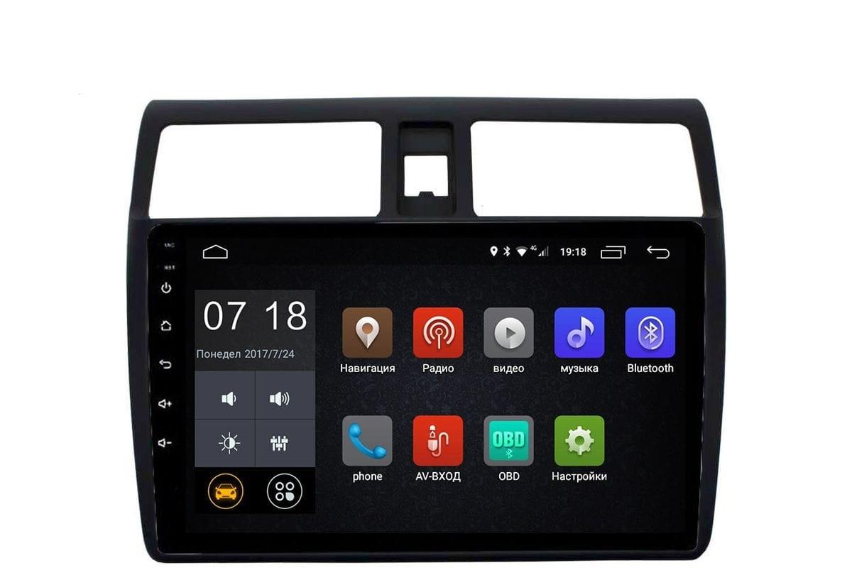Штатная магнитола Suzuki Swift III 2004-2010 LeTrun 2760 Android 6.0.1 10 дюймов (4G LTE 2GB) (+ Камера заднего вида в подарок!)