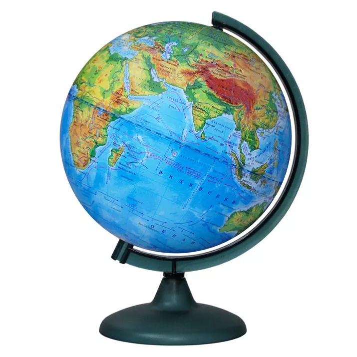 Картинка для Глобус физический диаметром 250 мм
