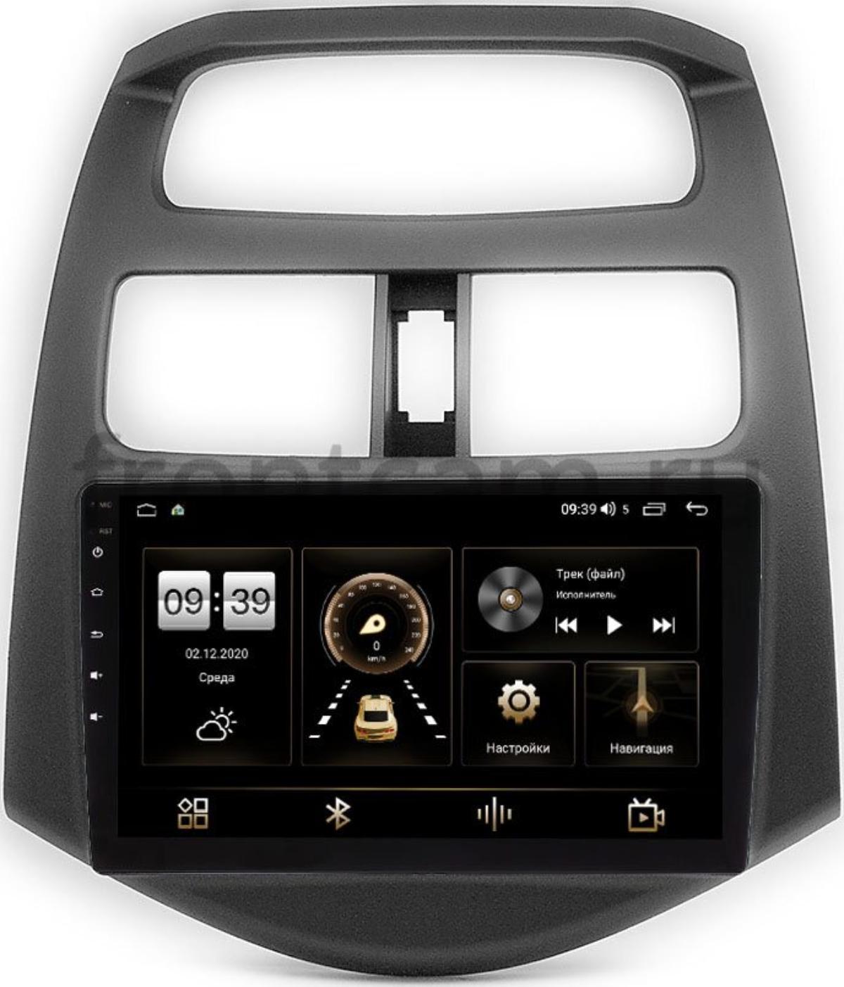 Штатная магнитола Chevrolet Spark III 2009-2016 (матовая) LeTrun 4196-9-180 на Android 10 (6/128, DSP, QLed) С оптическим выходом (+ Камера заднего вида в подарок!)