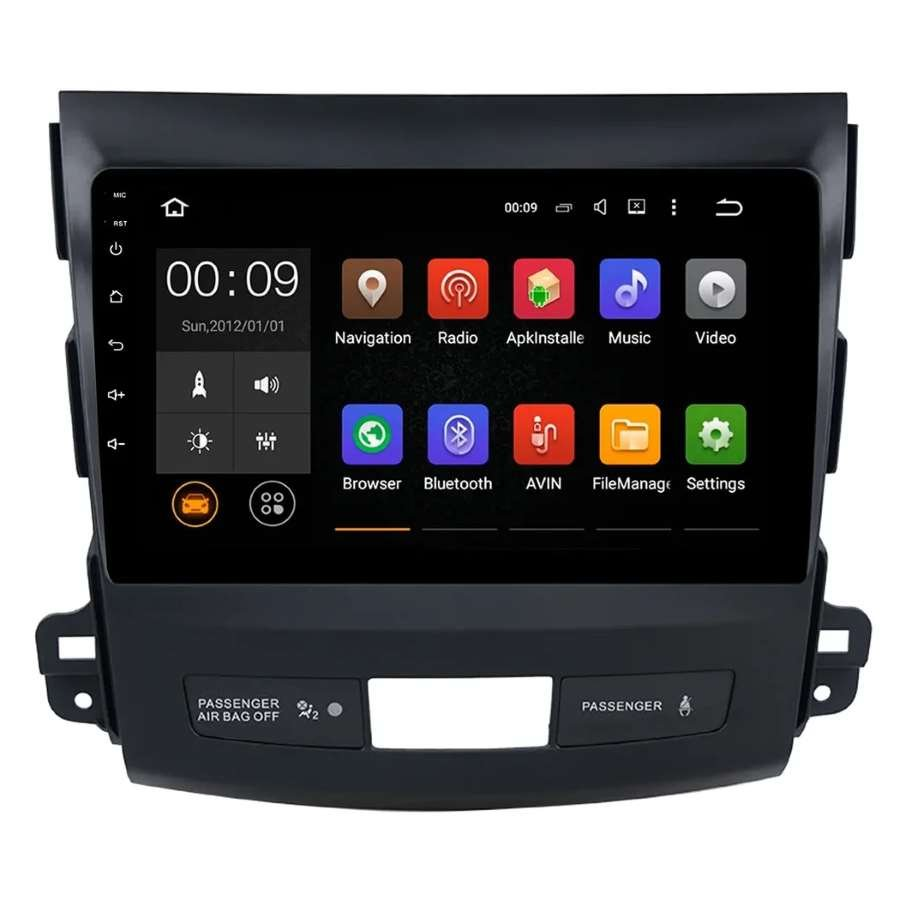 цена на Штатная автомагнитола VOMI ST2747-T8 для Mitsubishi Outlander XL 2006-2012 на Android 8.1.0 (+ Камера заднего вида в подарок!)