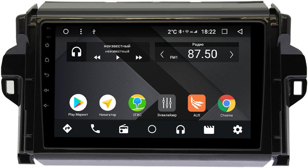 Штатная магнитола Toyota Fortuner II 2015-2018 Wide Media CF9106-OM-4/64 на Android 9.1 (TS9, DSP, 4G SIM, 4/64GB) (+ Камера заднего вида в подарок!)