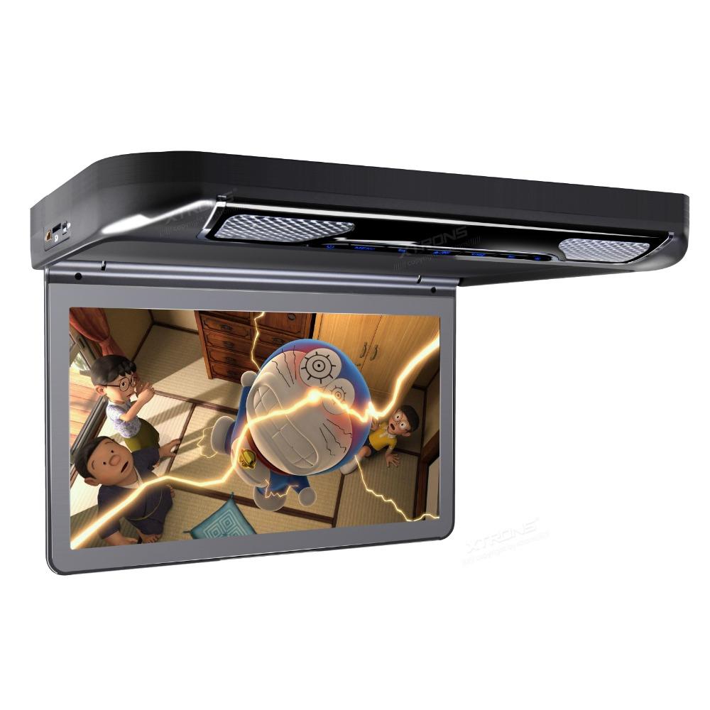 Автомобильный потолочный монитор 13.3 со встроенным Full HD медиаплеером ERGO ER13S-DVD (черный) автомобильный потолочный монитор 17 3 со встроенным full hd медиаплеером ergo er173fh