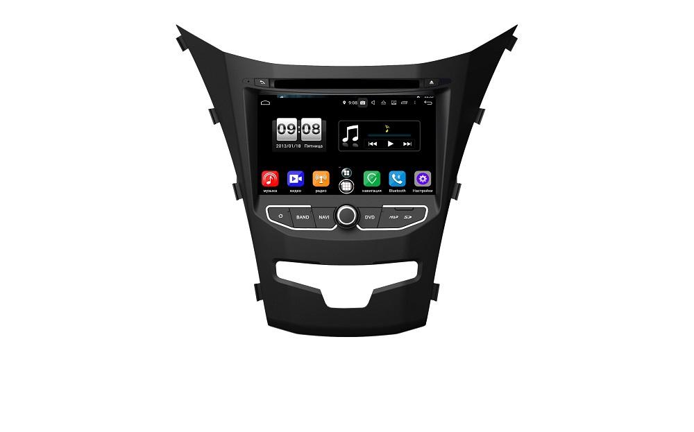 Штатная магнитола FarCar s250 для SsangYong Actyon II, Korando 2013-2018 на Android (RA355) (+ Камера заднего вида в подарок!)