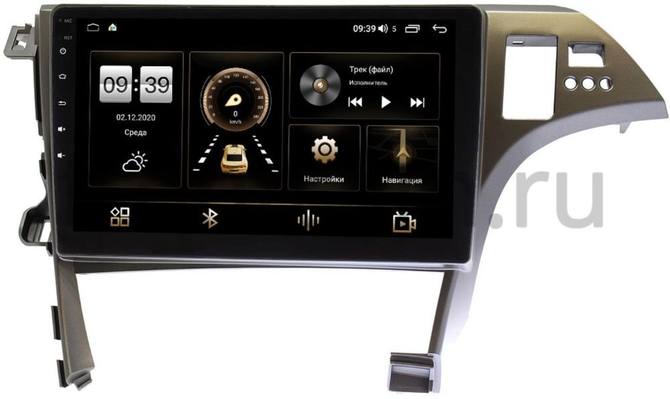 Штатная магнитола LeTrun 4195-10-780 для Toyota Prius III (XW30) 2009-2015 на Android 10 (6/128, DSP, QLed) С оптическим выходом (+ Камера заднего вида в подарок!)