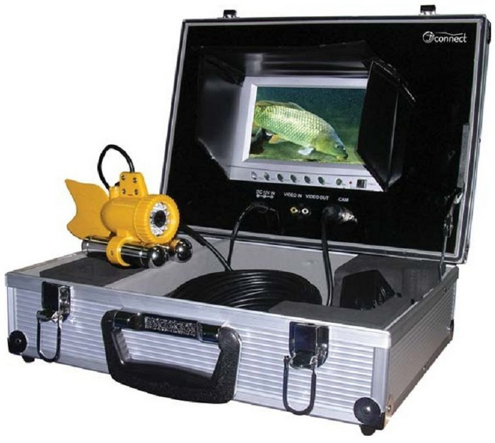 Подводная видеокамера JJ-Connect Underwater Camera Color underwater 30m 600tvl dvr av endoscope camera with 7 inch lcd monitor