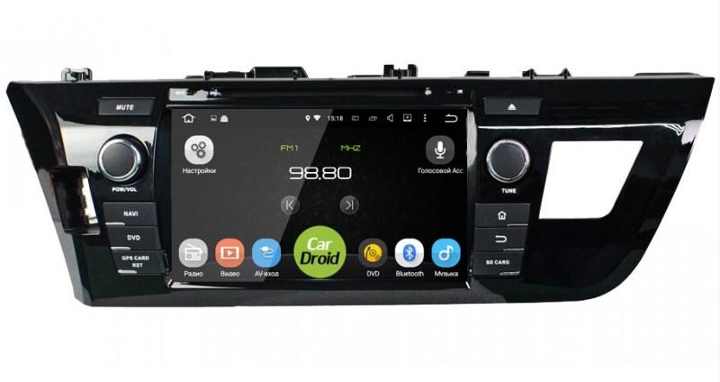 Штатная магнитола Roximo CarDroid RD-1103 для Toyota Corolla E160 (Android 8.0) (+ Камера заднего вида в подарок!)