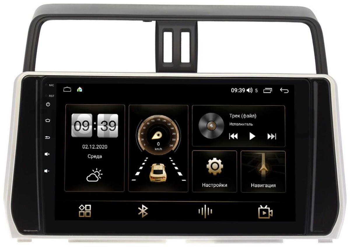 Штатная магнитола Toyota Land Cruiser Prado 150 2017-2021 LeTrun 4195-1058 на Android 10 (6/128, DSP, QLed) С оптическим выходом (для авто с 4 камерами) (+ Камера заднего вида в подарок!)