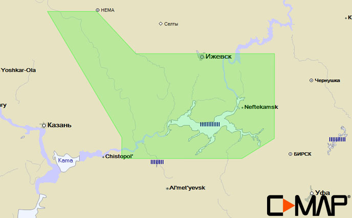 Карта C-MAP RS-N229 - Кама низовье карта c map rs n217 озеро байкал и сибирские озера