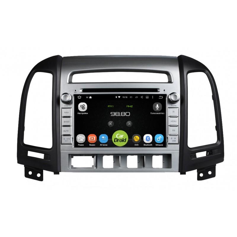 Штатная магнитола Roximo CarDroid RD-2001 для Hyundai SantaFe 2 (Android 8.0) (4 кнопки) (+ Камера заднего вида в подарок!) фото