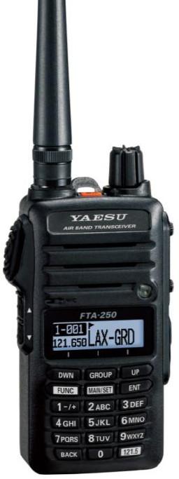 Авиационная портативная рация Yaesu FTA-250L портативная рация yaesu vx 6r