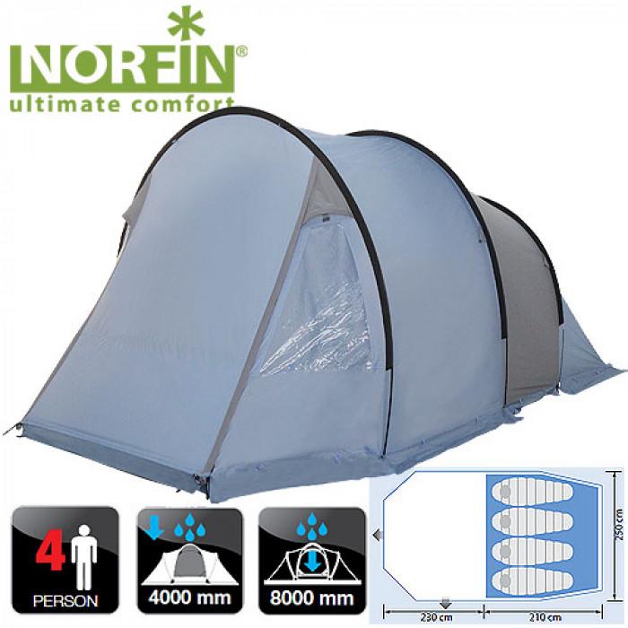 Палатка кемпинговая 4-х местная Norfin KEMI 4 NFL цена