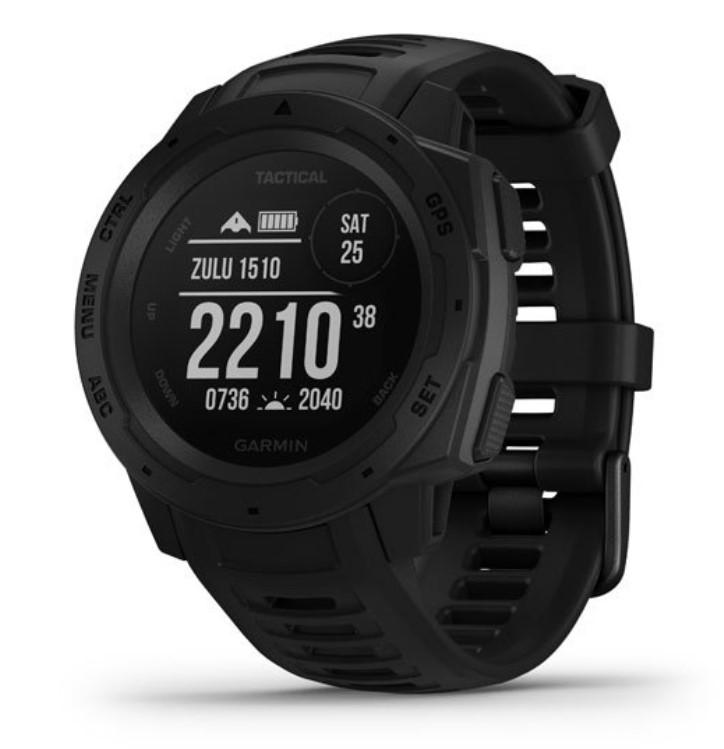 Прочные GPS-часы Garmin Instinct Tactical черный цены gps навигаторы garmin