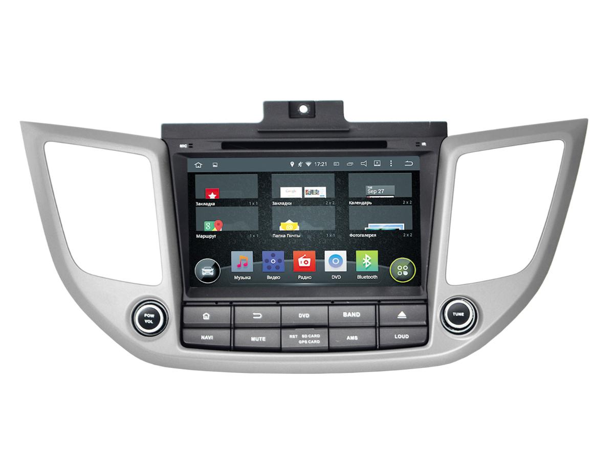 Штатная магнитола Incar AHR-2461 Hyundai iX-35, Tucson (2016+) Android 5.1Intro<br>Intro AHR-2461. DVD/GPS-мультимедийный центр.Сенсорный дисплей с 8 дюймами. Доступность опции телефонной книги, когда набирать абонента можно прямо с экрана. Удобный простой интерфейс. Выход в интернет.<br>