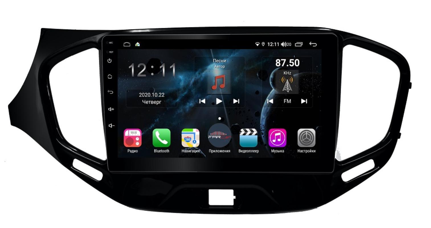 Штатная магнитола FarCar s400 для Lada Vesta на Android (TG1205R) (+ Камера заднего вида в подарок!)