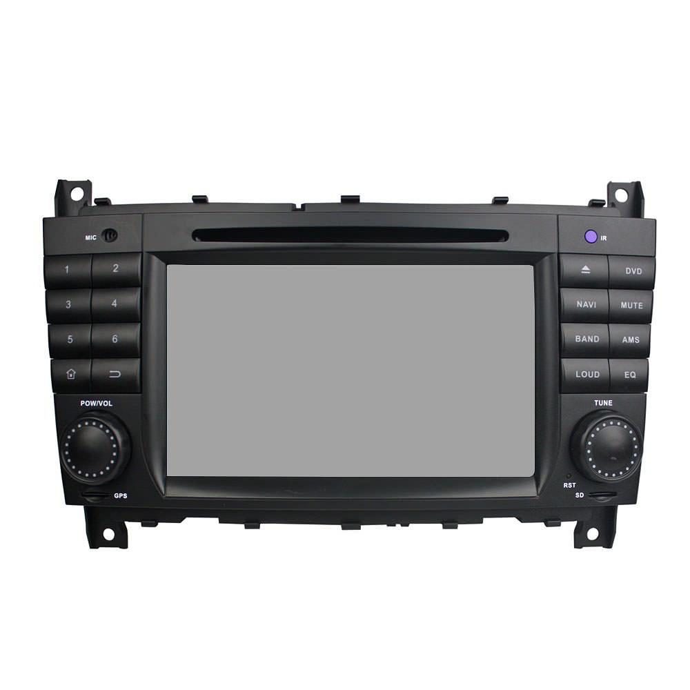 Штатная магнитола CARMEDIA KD-7218-P3-7 DVD Mercedes G-класс W463 2007-2012, C-класс W203 рестайл 2004-2007, CLK, CLC, SLK