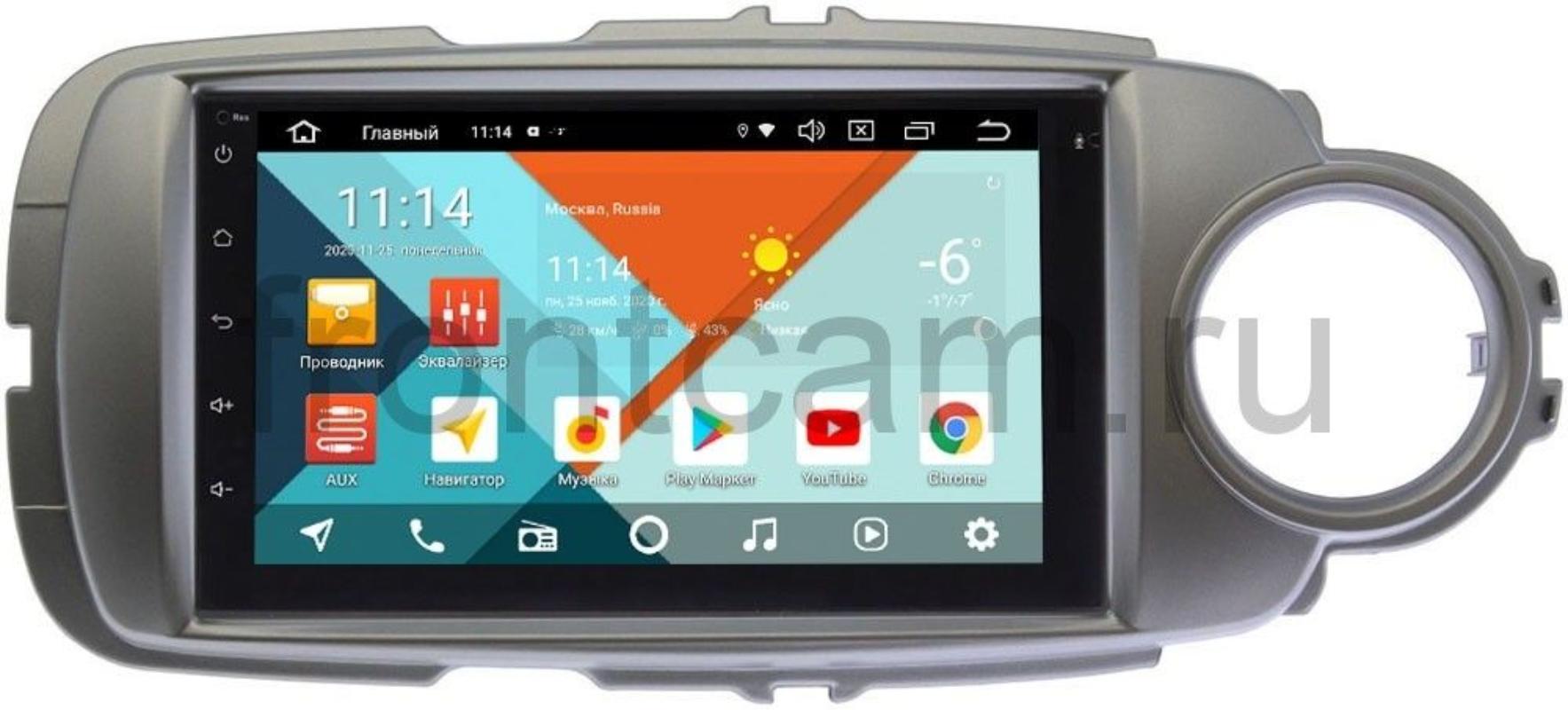 Магнитола для Toyota Yaris III (XP130), Vitz III (XP130) (правый и левый руль) Wide Media KS7001QR-3/32-RP-TYVT13X-181 на Android 10 (DSP CarPlay 4G-SIM) (+ Камера заднего вида в подарок!)