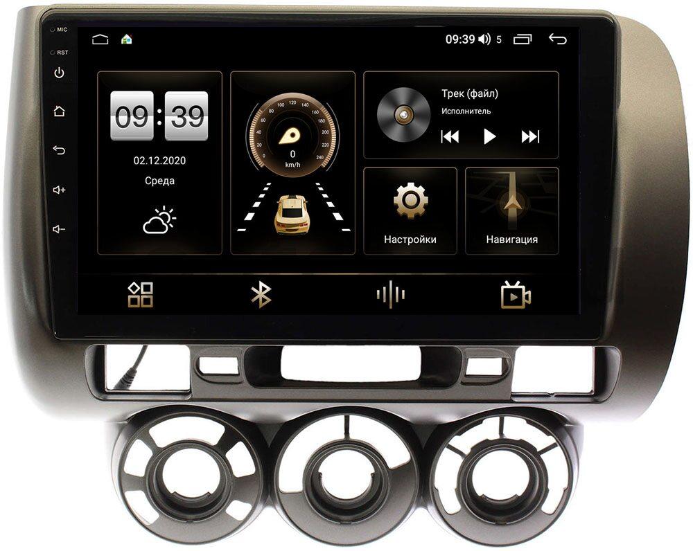Штатная магнитола LeTrun 4196-9187 для Honda Fit I 2001-2008 (с кондиционером) на Android 10 (6/128, DSP, QLed) С оптическим выходом (+ Камера заднего вида в подарок!)