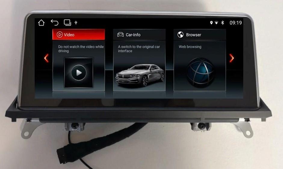 Штатная магнитола Carmedia MKD-8509 BMW X5 E70 2006-2010 и X6 E71 2008-2010 CСC на Android 7.1