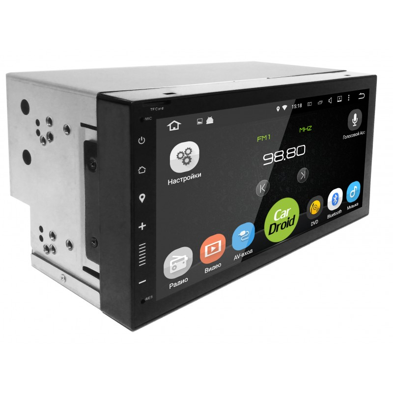 Штатная магнитола CarDroid RD-1005D 2DIN Универсальная 7 slim (Android 8.0) DSP (+ Камера заднего вида в подарок!)