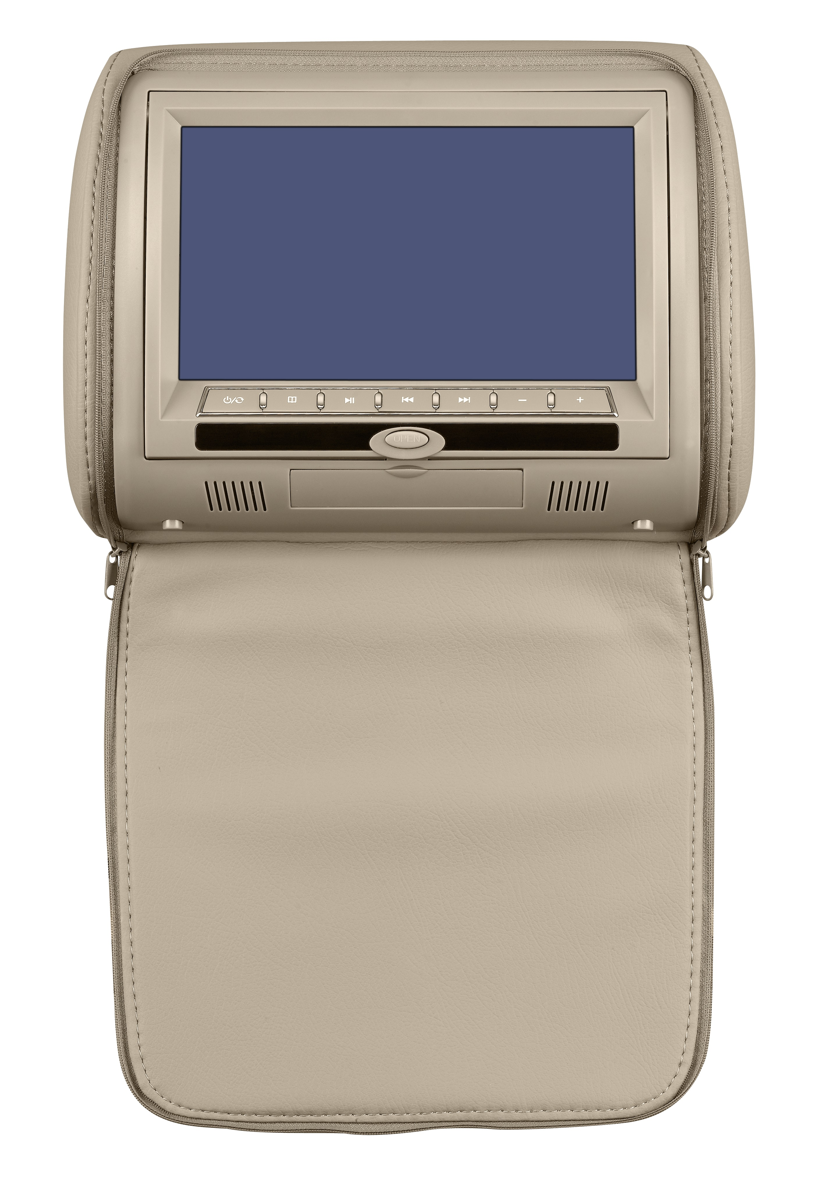 Подголовник с монитором 9 и встроенным DVD плеером FarCar-Z009 (Biege)FarCar<br>Монитор-подголовник FarCar-Z009 – это богатый функционал, надежный механизм, удобная вертикальная загрузка дисков, сенсорный экран. Монитор будет хорошим дополнением ВАШЕГО автомобиля. Универсальные подголовники с DVD плеером легко устанавливаются на место штатных подголовников. Внешний вид монитора привлекательный, выполнен с использованием высококачественной искусственной кожи. Покупателю представлены три цвета монитора-подголовника. Классические цвета черного, бежевого и серого – подойдут любому салону и будут приятно смотреться в машине.